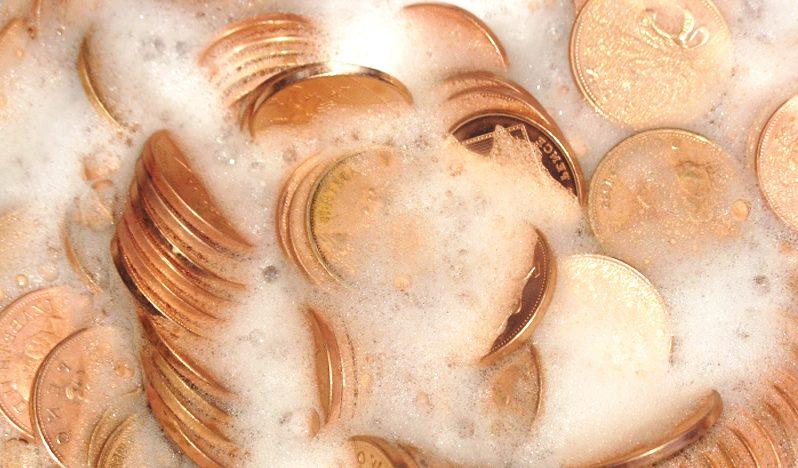 Очищение монет поэтапно